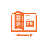 Icon of book with content that reads